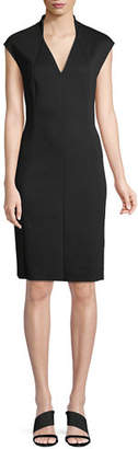 Elie Tahari Geraldine Cap-Sleeve Sheath Ponte Cocktail Dress