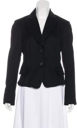 Nicole Farhi Notched-Lapel Wool Blazer