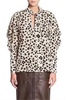 Manning Cartell Cheetah Silk Blouse