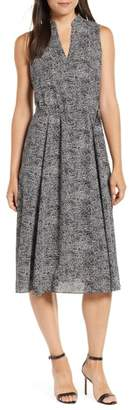 Anne Klein Sleeveless Print Midi Dress