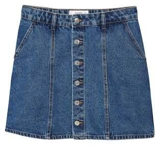 MANGO Denim organic cotton skirt