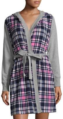 Jane and Bleecker Women's Micro Fleece Jersey Robe