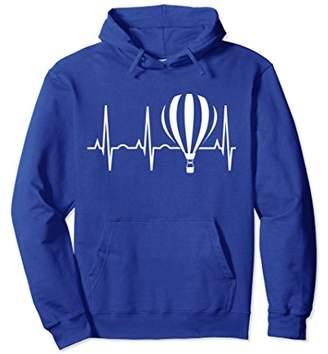 Hot Air Balloon Hoodie Ballooning Heartbeat Sweatshirt Gift