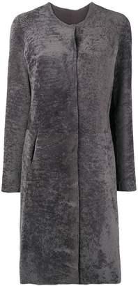 Giorgio Brato fur single breasted coat