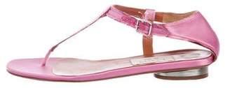 Lanvin Satin Thong Sandals