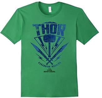Marvel Thor Ragnarok Asgardian Warrior Hammer Shield T-Shirt
