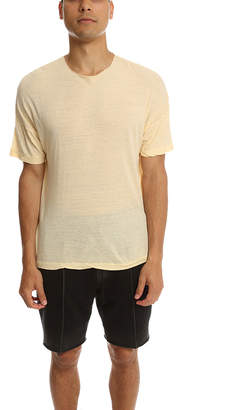 V::room Highsoft Melange Raw Crewneck Tee