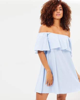 Ocean Avenue Off-Shoulder Ruffle Dress