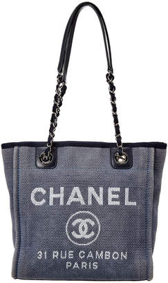 Chanel Blue Canvas Mini Deauville Tote