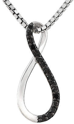 FINE JEWELRY Color-Enhanced Black Diamond-Accent Sterling Silver Infinity Symbol Pendant Necklace