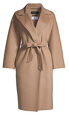 Max Mara Women's Ted Wool Wrap Coat