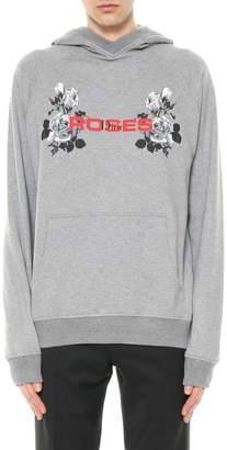Christian Dior Printed Roses Hooded Sweatshirt