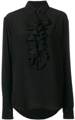 Saint Laurent ruffle bib shirt