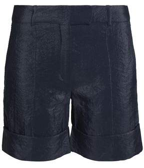 Nina Ricci Crinkled Satin-Crepe Shorts