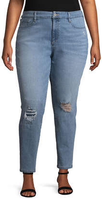 Arizona Super High Rise Skinny Fit Ankle Pant-Juniors Plus