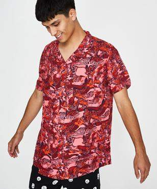 MISFIT Large by Night SS Shirt Red