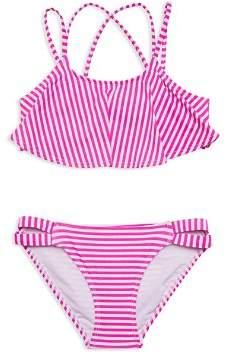 Gossip Girl Girls' Striped 2-Piece Swimsuit - Big Kid