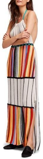 Mardi Gras Halter Maxi Dress