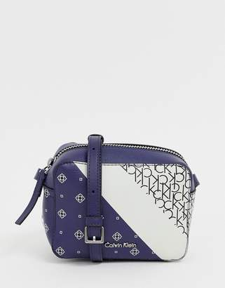 Calvin Klein small crossbody bag in bandana print