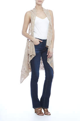 Raj Lotus Cream Lace Embroidered Vest $56 thestylecure.com