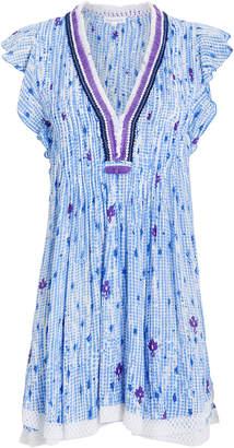 Poupette St Barth Sasha Lace Trim Mini Dress
