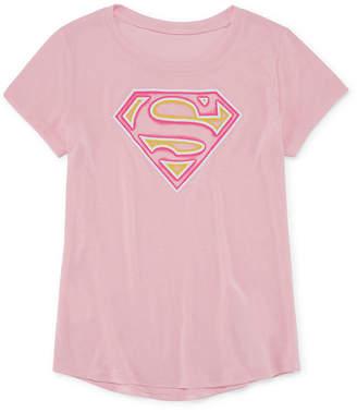 Jerry Leigh Super Girl Logo T-Shirt- Girls' 7-16