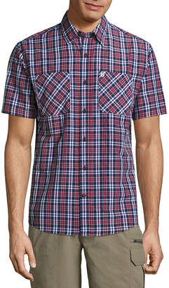 Coleman Short Sleeve Plaid Button-Front Shirt