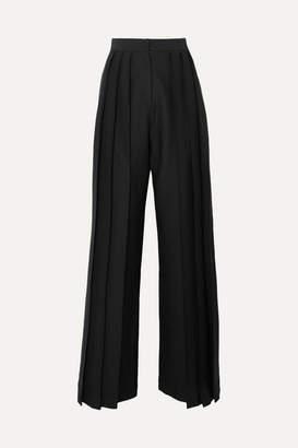 MATÉRIEL Triple Pleat Twill Wide-leg Pants - Black
