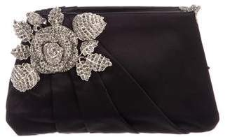 Valentino Crystal Rose Embellished Clutch