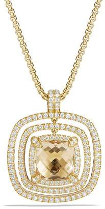 David Yurman Châtelaine Pavé Bezel Enhancer with Champagne Citrine and Diamonds in 18K Gold