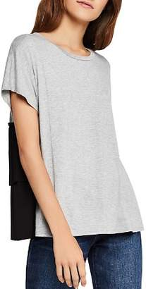 BCBGeneration Color-Block Tiered Ruffle-Back Tee