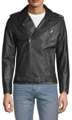 Frye Textured Leather Biker Jacket