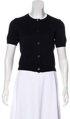 Miu Miu Knit Short Sleeve Cardigan