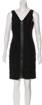 Rachel Zoe Pleated Mini Dress