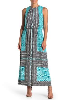 London Times Blouson Maxi Dress (Petite)