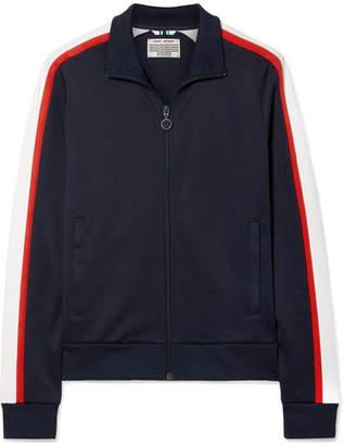Tory Sport Striped Stretch-knit Track Jacket - Navy