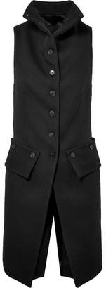 Ann Demeulemeester Wool-twill And Satin Vest - Black