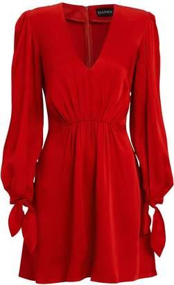 HANEY Joplin Gathered Crepe Mini Dress