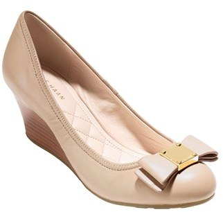 Women's Cole Haan 'Tali Grand' Bow Wedge Pump $180 thestylecure.com