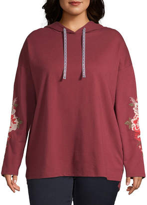 ST. JOHN'S BAY SJB ACTIVE Active Embroidered Hoodie - Plus