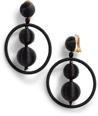 Oscar de la Renta Double Ball Hoop Earrings