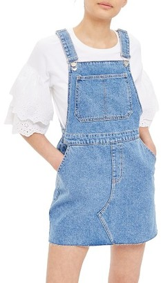 Women's Topshop Denim Pinafore Style Dress $68 thestylecure.com