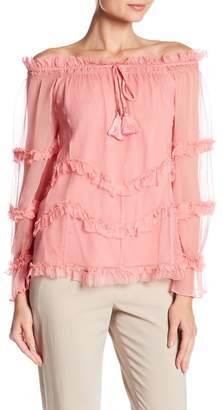 Love Sam Sadie Off-the-Shoulder Long Sleeve Blouse