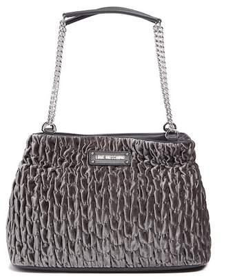 Love Moschino Borsa Velvet Gathered Shoulder Bag