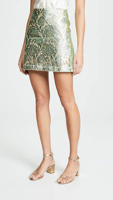 ANAÏS JOURDEN Metallic Miniskirt
