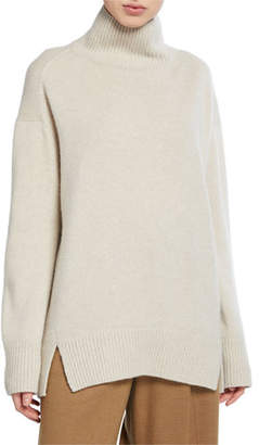 Vince Oversized Cashmere Double Slit Turtleneck Sweater