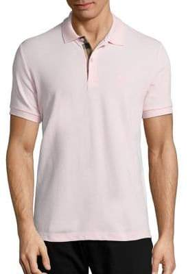 Burberry Oxford Short Sleeve Cotton Pique Polo