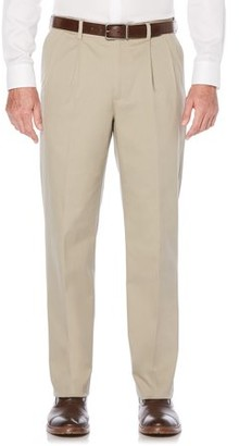 Savane Big & Tall Men's Pleated Ultimate Performance Chino Pants