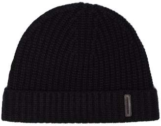 Burberry black Fisherman knitted cashmere beanie hat