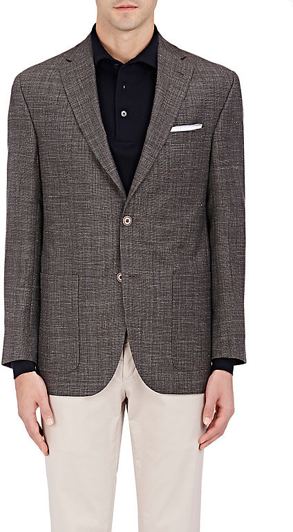 Barneys New York Barneys New York BARNEYS NEW YORK MEN'S CAPRI WOOL-BLEND TWO-BUTTON SPORTCOAT